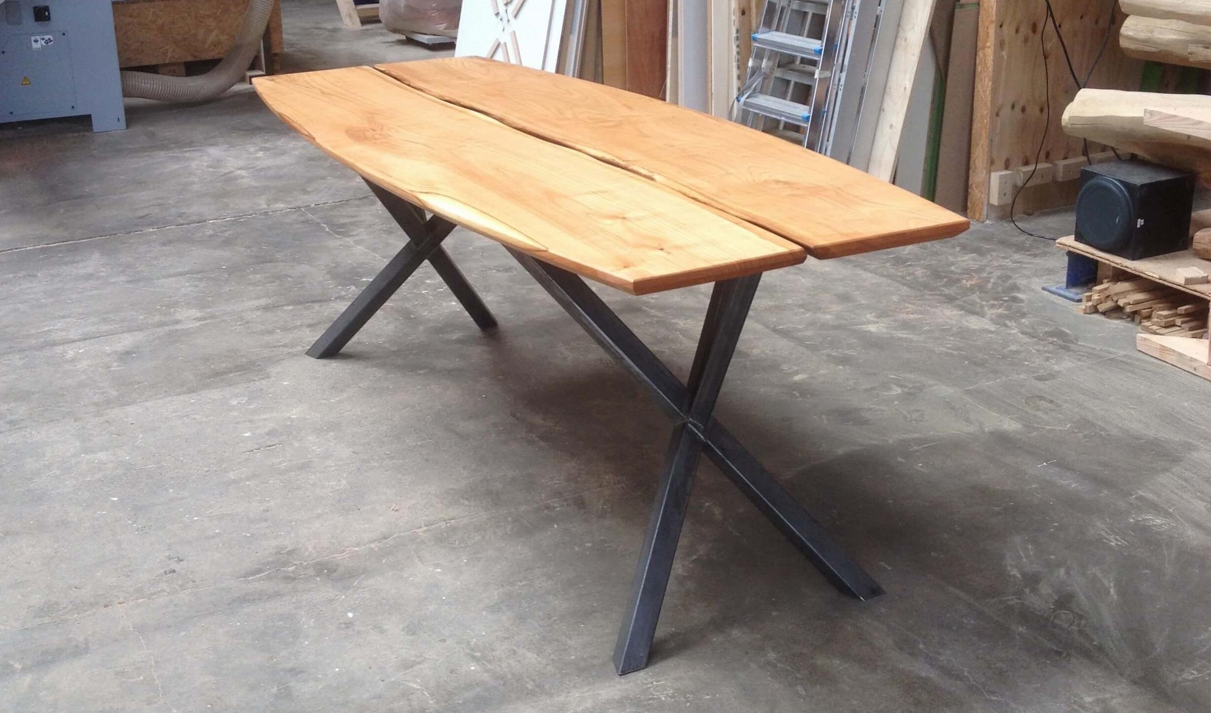Houten ovale tafel ovale tafels zwaartafelen made in holland