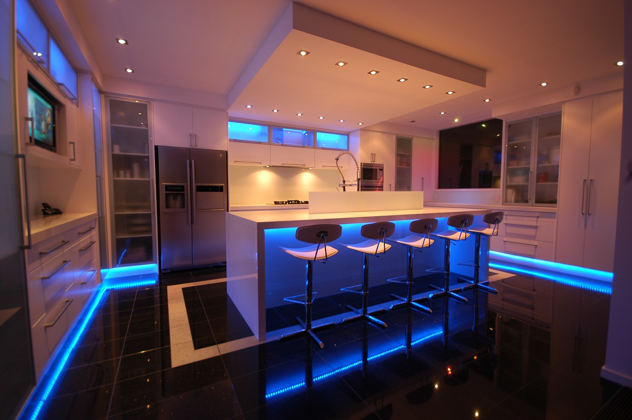 led strips in de keuken
