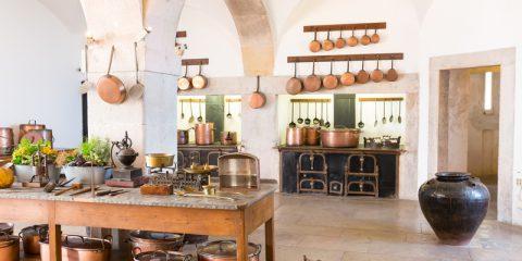 vintage werkbank als keukeneiland