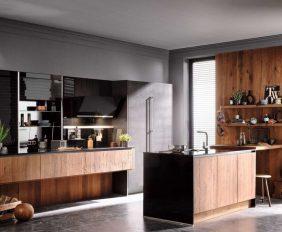 gerookt houten keuken