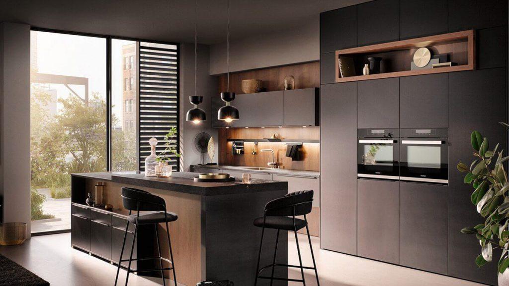 houten keuken zwart